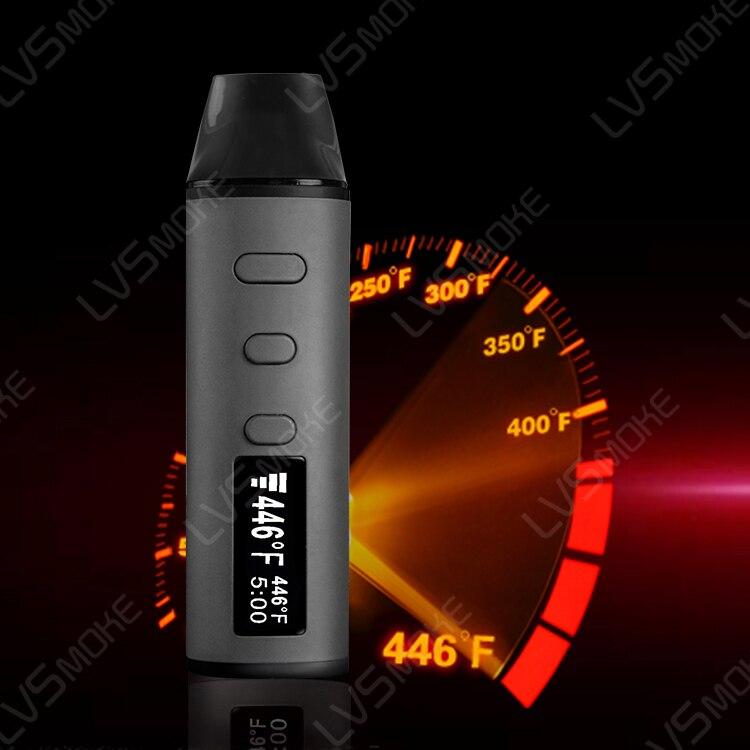 Cigarette électronique herbe sèche vape avec écran 1600mah batterie lvfume e cigarette kit VS AMAZE herbe sèche vaporisateur