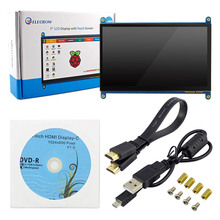 Elecrow Raspberry Pi 3 Display 7 Inch Touch Screen HDMI HD LCD TFT 1024X600 Monitor 7inch RPI Display for Raspberry Pi 3 2B B