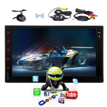 WiFi Autoradio System 4-CORE No-DVD Android 4.4 Car Radio 7″ USB Player Bluetooth APP OBD2 In Dash GPS Stereo 2 din