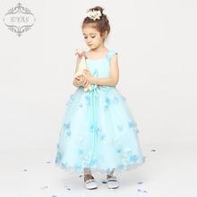 2016 Eyas Children s Clothing Girl Dress Summer Dress Ankle Length Princess Floral Sweet Sleeveless Dress