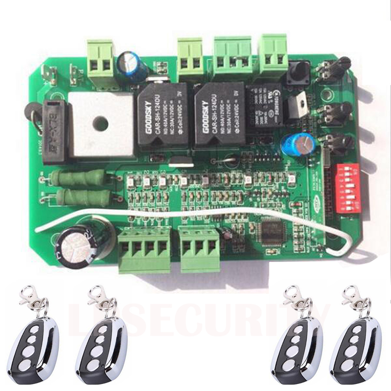 Sliding Gate opener operator motor Control Board card controller circuit board for 24VDC motor use remote