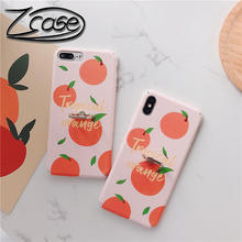 Hard PC Phone Case for iPhone Xs/Xs Max 6 6S Plus Orange Cover with Finger Ring Kickstand Cover for iPhone 7 8 Plus Xr X Case цена и фото