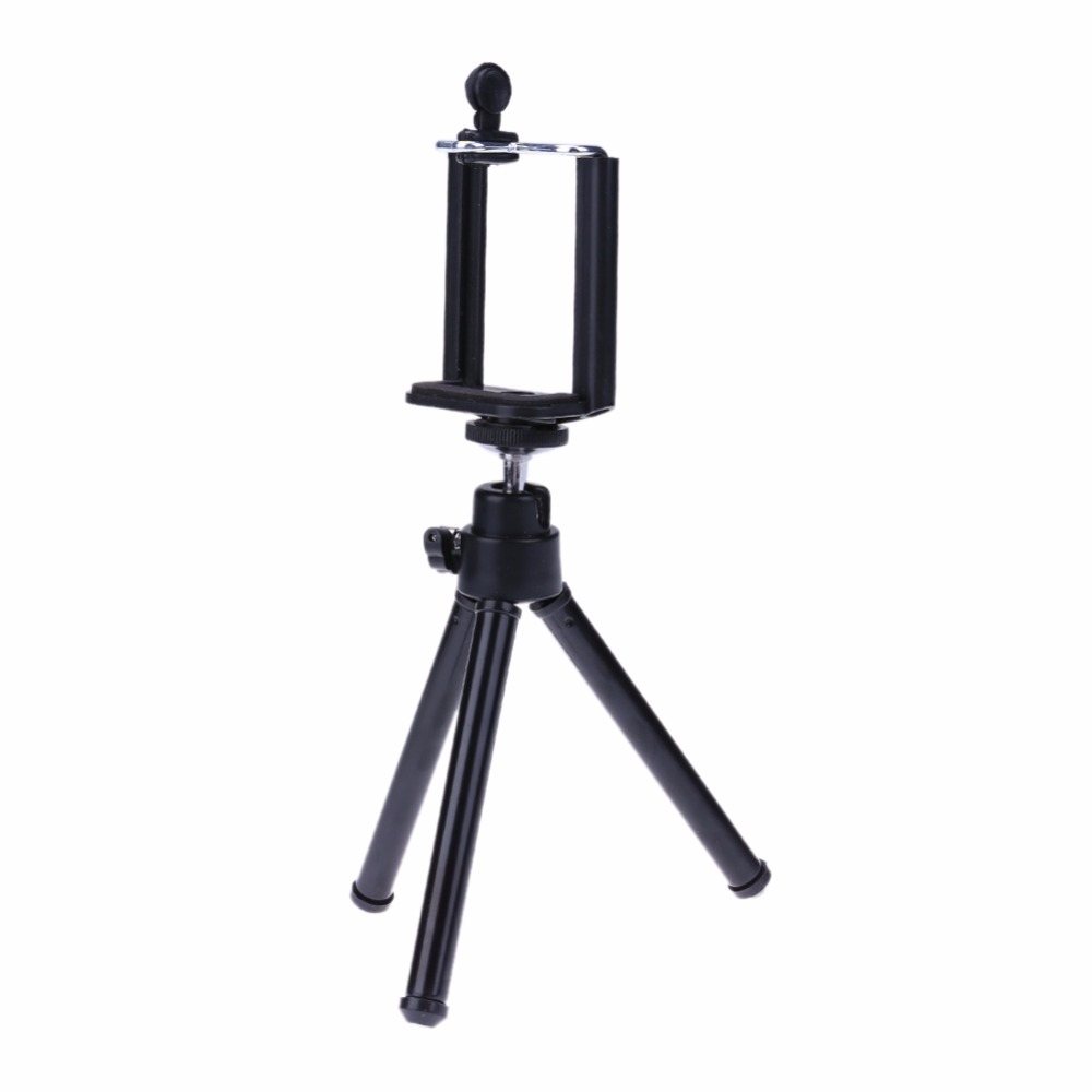 Universal Mini Mobile Phone Camera Tripod Stand Clip Bracket Holder Mount Adapter For SelfTimer Phone Soporte