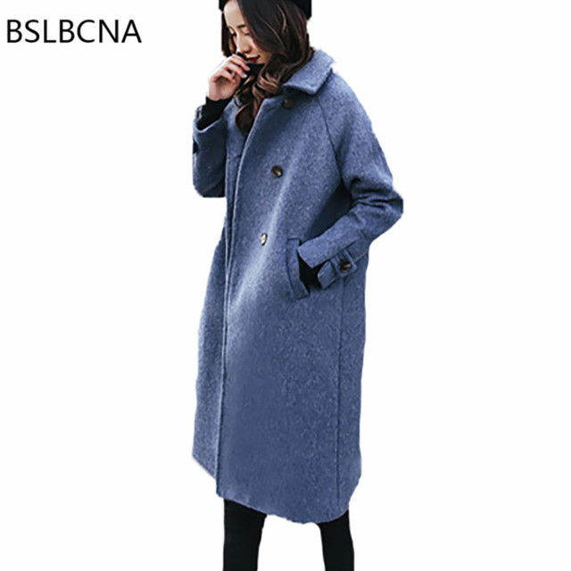 601d20ee9e Wool Overcoat European Winter Woolen Coat Women Mid Length 2018 Fashion  Vintage Hepburn Style Retro Cashmere Clothes Female A109