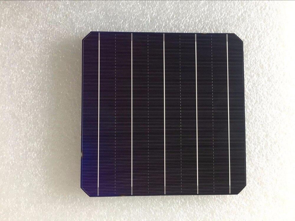 60Pcs 5 1W Pcs Monocrystalline Solar Cell 156 75 156 75mm For DIY Photovoltaic Mono Solar