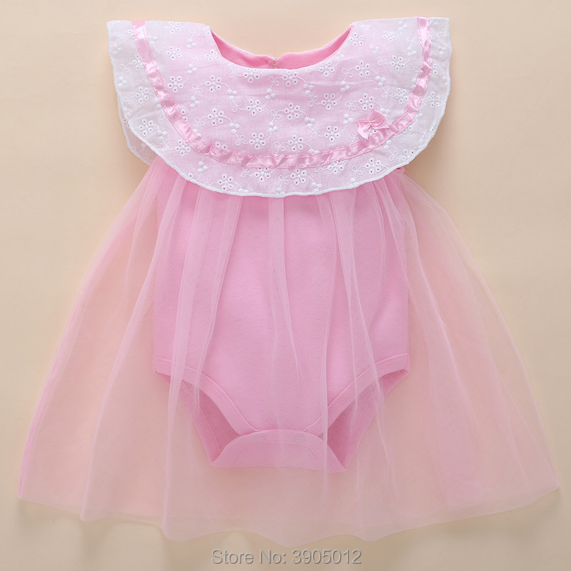 0 3 months baby girl dresses Summer Clothes Cotton 3-6 Months 4 Thin Section 5 Newborn Princess 12 Wear Free Shipping New Real