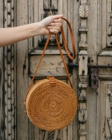 ZHIERNA 2017 Handmade Crossbody Bags Bohemian Straw Bags For Women Small Circle Beach Handbags Summer Vintage