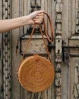 ZHIERNA 2017 Handmade Crossbody Bags Bohemian Straw Bags For Women Small Circle Beach Handbags Summer Vintage