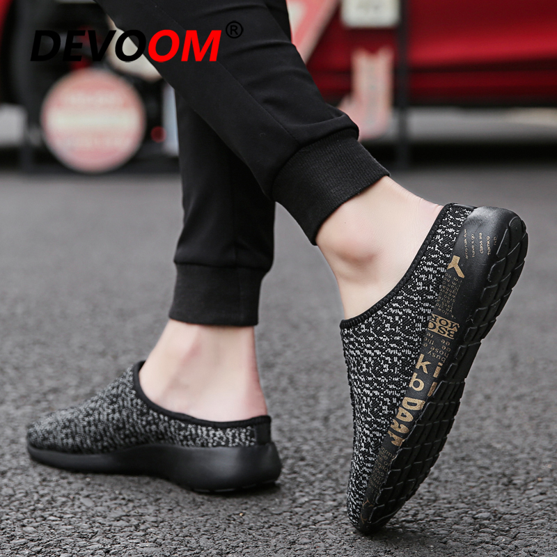Men's Casual Shoes Brands 2018 Summer New Breathable One-legged Shoes Mens Casual Shoes Wear Baotou Trend Canvas Shoes Zapatos De Mujer Size 39-44 Products Hot Sale Men's Shoes