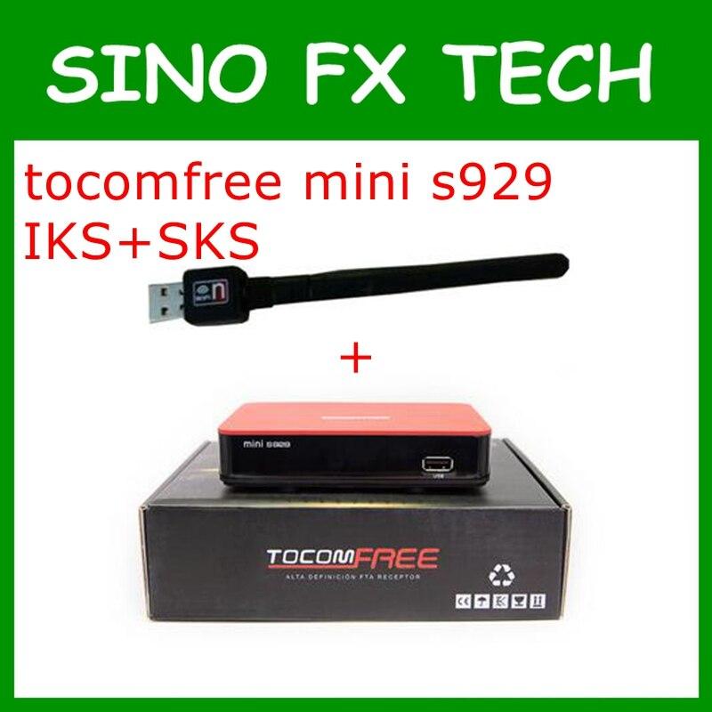 ФОТО 2017 receptor tocomfree mini s929 america sul + USB WiFi Receptor FTA Digital Satellite TV Receiver Full HD IKS+SKS