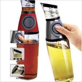 250 ML bottiglia di olio, push controllabile oliatore ampolla salsa di aceto La cucina è un buon aiuto