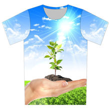 3e567f59 Joyonly Children Sunny Blue Sky Plant Weed Hand Fruit Food Design T-shirt  Boys Girls 2018 Summer Cool Printing T shirt Tops Tees