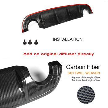 FRP из углеродного волокна ПУ задний бампер диффузор спойлер для Infiniti Q50 база и спорт 2014-2017 Выпускной диффузор