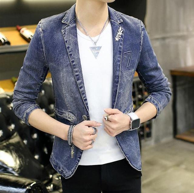 Nuevos mens de la chaqueta de la marca de calidad superior denim chaqueta mensuit masculino abrigo chaquetas de traje M-xxl 3XL