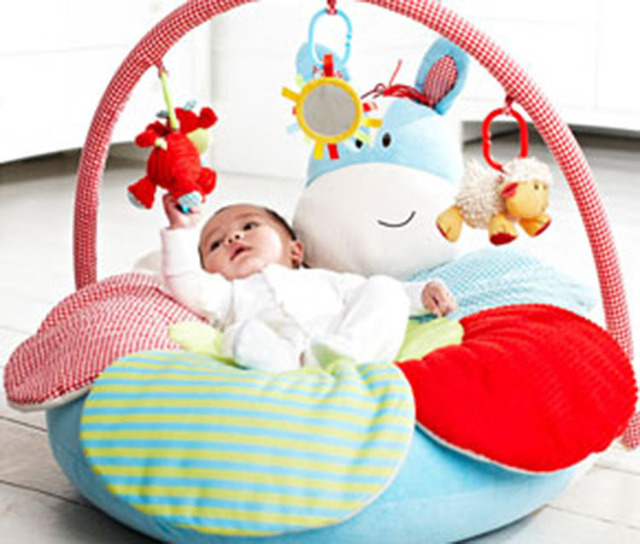 ELC Blossom Farm Sheep Sit Me Up Cosy Deluxe Inflatable Ring ...