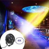 Flat Par Lights Mini 18W Dj Laser Disco Lights 6X1.5W RGB 3IN1 LED Par Cans IP20 Stage Dj Projector Machine Party Decorations