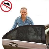 2pcs Auto Side Rear Window Sun Shade Black Mesh Car Cover UV Protection Mesh Mosquito Dust