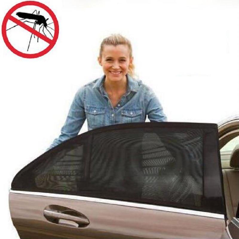 2 шт. авто боковое окно сзади от солнца черный сетка автомобиль покрытие УФ-защитой москитная сетка защита от пыли
