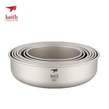 Keith напольная титановая чаша тарелка для кемпинга походов набор столовых приборов для скалолазания кухонная посуда 300 мл-900 мл