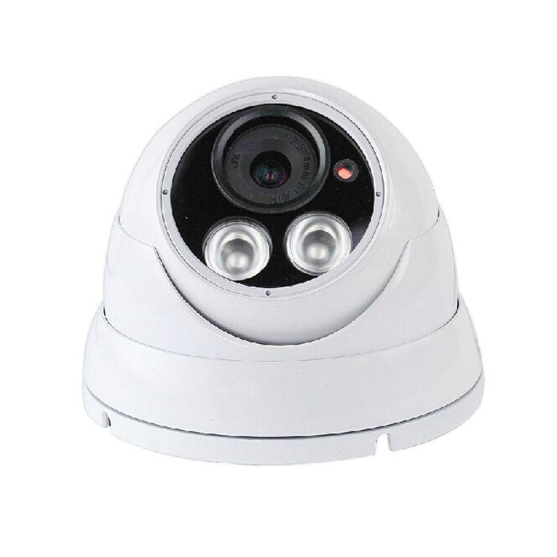 ФОТО Metal HD 4.0MP indoor dome IP network camera night vision lights 2IR Onvif H.264 P2P 12V2A power supply security