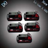 5pcs 18V Lithium Ion 1500mAh Rechargeable Power Tool Battery Replacement For Milwaukee M18 XC 48 11