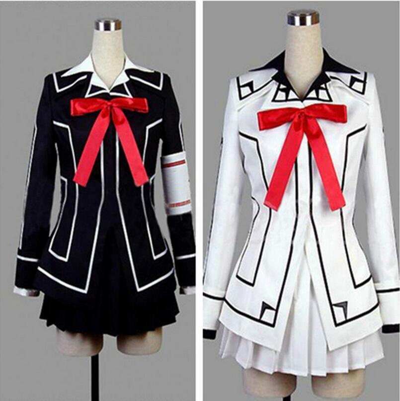 Vampire Knight Cosplay Costume Yuki Cross White or Black Womens Dress uniform Dropping Shipping