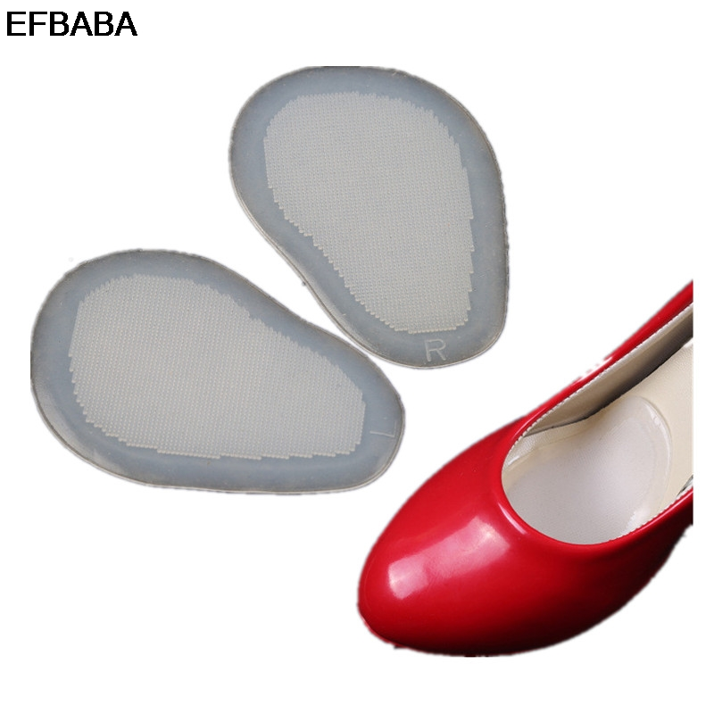 EFBABA Silicone Insoles Transparent Forefoot Pad Half Yard Pad Non-slip Front Pad Adjustment Code Prevent Foot Pain Accessoires
