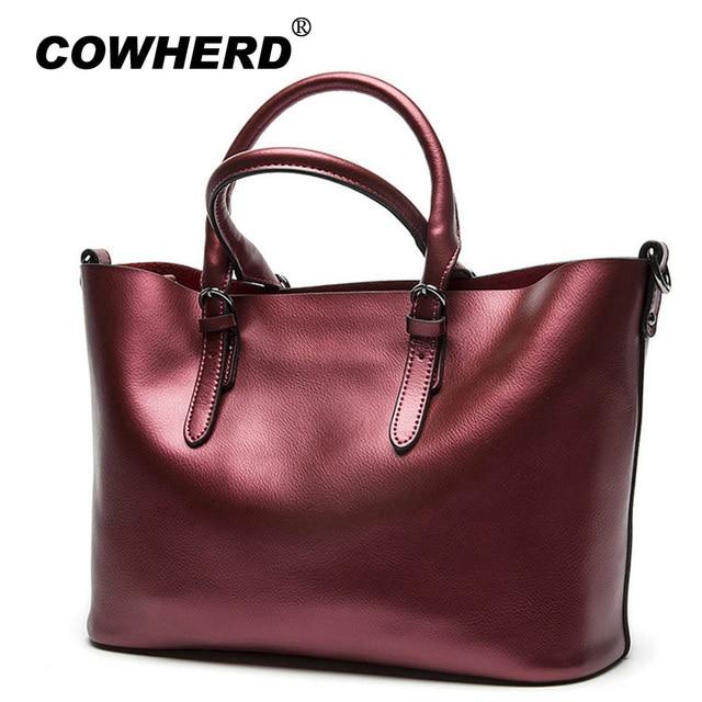 3456d68014bb New American LUXURY Style Genuine Cow Leather Women Shoulder Bag Brand Designer  Cowhide handbags Skin Crossbody Shopping Bag