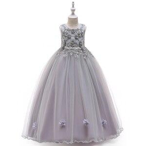 Image 5 - キッズフラワーパーティーやウェディングドレスの女の子イースター衣装子供ページェント女の子のプリンセスドレス4 12t