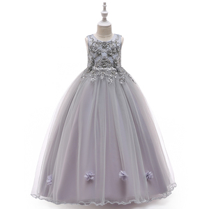 Image 5 - Kids  Flower Girls Dresses For Party and Wedding Dress Girls Easter Costume Children Pageant Gown Girls Princess Dress 4 12T