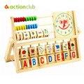 Игрушки для маленьких детей монтессори деревянные игрушки логарифм версия дети деревянные блоки обучения и образования игрушки