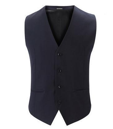 Top Seller colete terno primavera outono nova moda Slim Fit homens puro colete Tops frete grátis