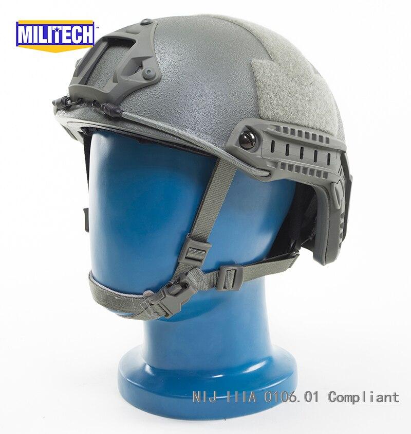 imágenes para Militech FG Follaje Verde OCC Dial Nivel IIIA NIJ 3A FAST Alta Corte Kevlar Bulletproof Ballistic Casco Con 5 Años garantía