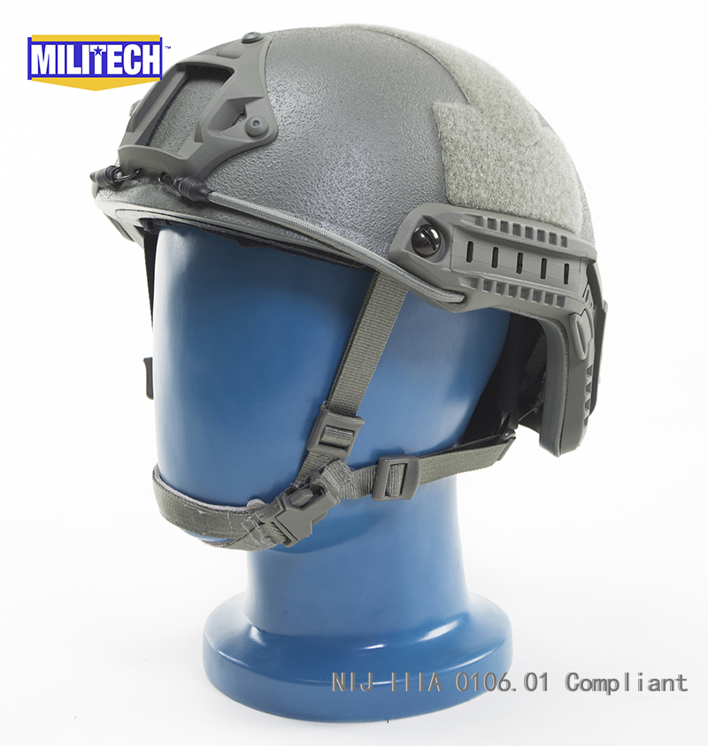 Militech Foliage Green FG OCC Dial NIJ Level IIIA 3A FAST High Cut Bulletproof Ballistic Kevlar Helmet With 5 Years Warranty