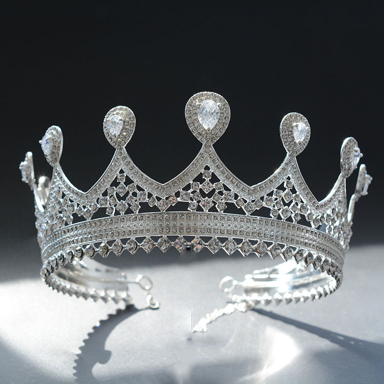 Woodqiqi Korean princess big crown wedding jewelry headdress European bride round crown headdress hair ornaments round crown маленькая сумочка korean style 2015 crown 0155