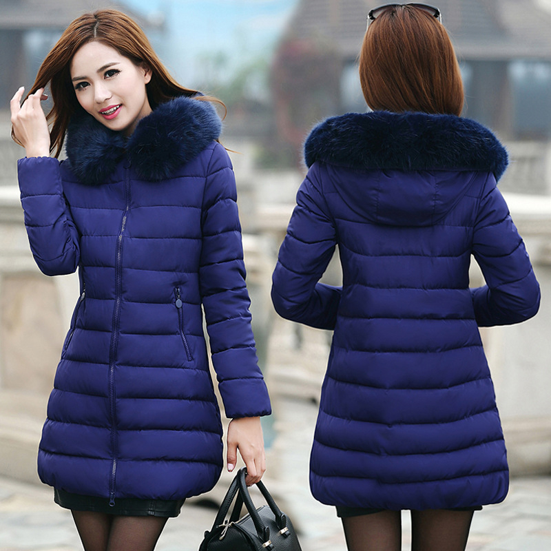 ФОТО Womens Winter Jackets 2016 Thick Warm Hooded Down Cotton And Coats  Padded  For Women's Winter Jacket Female Manteau Femme B060