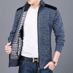 Image 3 - 2020 maglione spesso nuovo marchio di moda per Cardigan da uomo maglioni Slim Fit maglieria autunno caldo Casual stile coreano abbigliamento uomo