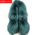 Плюс размер 2017 зима новый женщин способа высокого качества партии Милан показать silver fox меховой целом шаль Пашмины & зеленый & Борден красный