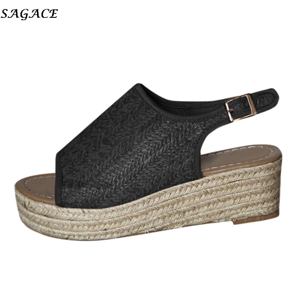 Schuhe Plus Größe 35-43 Sommer Sandalen Frauen Flip-flops Weben Leder Casual Strand Flache Mit Schuhe Rom Tanga Stil Weibliche Sandale Frauen Sandalen