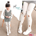 Kids clothing pantyhose for girls spring and autumn pure cotton trousers socks baby white pantyhose girls cute teddy bear dance