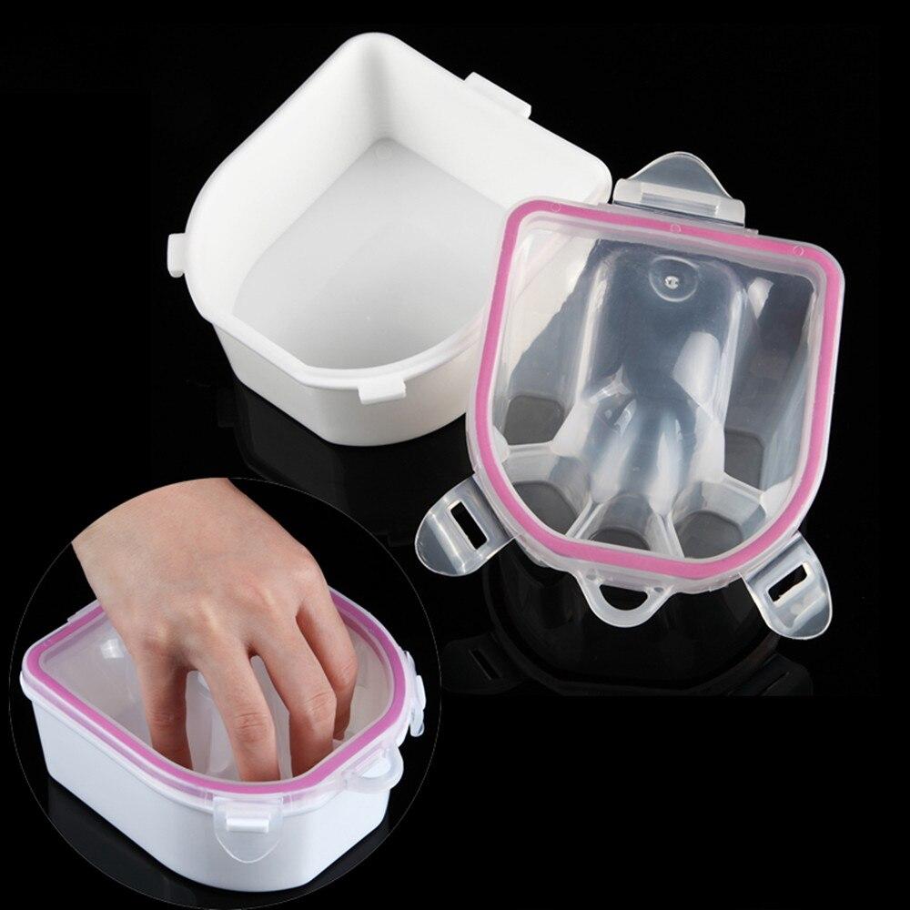 Makartt Wash Soak Plastic Bowl Salon Nail Art Treatment Tray Hand ...