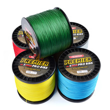 300m/500m/1000m Fishing Line 4&8 Strands Red/Green/Grey/Yellow/Blue High Visibility Braid Line For Fishing Floating Line
