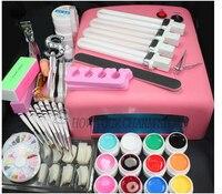 Commercio all'ingrosso set per la nail gel strumenti chiodo 36 W Timer Dryer Lampada decorazioni Kit manicure nail kit acrilico UV Che Cura Dryer Luce Della Lampada