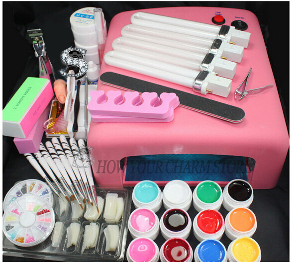 Wholesale set for nail gel nail tools 36W Timer Dryer Lamp Decorations Kit manicure acrylic nail kit UV Curing Dryer Lamp Light btt 116 free shipping pro 36w uv dryer acrylic nail art set acrylic nail kit kit nail gel kit gel nails set with lamp