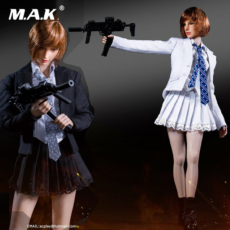 1/6 Scale Sexy ACPLAY 1/6 ATX041 Girl Uniform Set Clothes Suit Set Leather Jumpsuit Figure Model For Female Body Figure Toy Gift