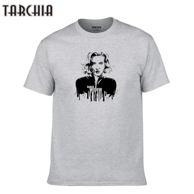 TARCHIA 2019 fanshion new brand t-shirt cotton tops Black Widow tees men short sleeve boy casual homme tshirt t shirt plus