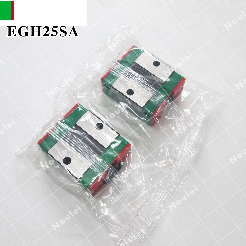 HIWIN EGH25SA slider block for 25 series linear stage guide rail CNC parts 2pcs hiwin hgh25ca linear guide slider block linear rails carrier