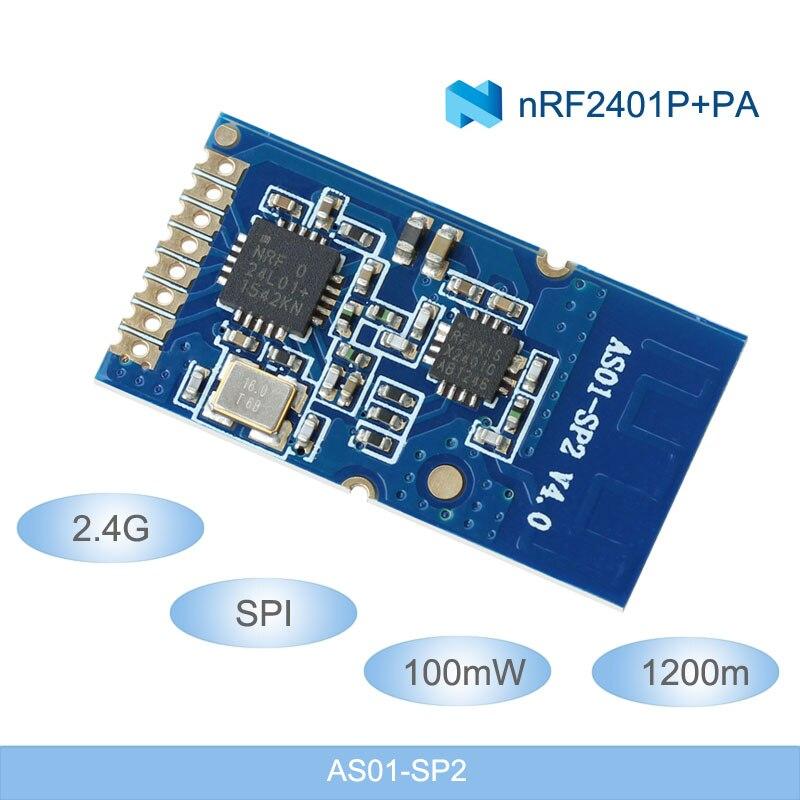 Módulos de RF inalámbricos de 2,4G, módulos inalámbricos de 1200m de larga distancia NRF24L01 + PA + LNA 2,4 ghz, módulos inalámbricos de 100mW SPI transmisor y receptor RF Antena Wifi Superbat Yagi 2,4 GHz 16dBi Booster Wireless-G para 802.11b/g/n WLAN RP-SMA Cable de enchufe macho 5m extensión de largo alcance