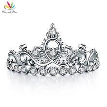 Pavo real Estrella Sólida plata de Ley 925 Anillo de Plata de La Corona Forma CZ para Dama de Moda Con Estilo CFR8275