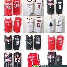 4f23a64b8fb Houston Chris Paul James Harden Carmelo Anthony Clyde Drexler Hakeem  Olajuwon Mens Basketball Jerseys(China